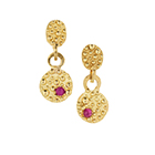 Gold Granulated Earrings