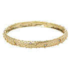 Gold Granulated Diamond Bangle